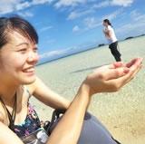 幻の島上陸記念写真